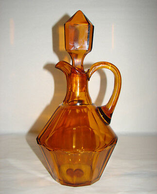 Antique Czechoslovakia Hand Blown Bohemian Cut Glass Decanter Jug by Moser