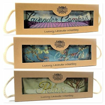 Luxury  Lavender Wheat Bag In Gift Box- Relaxation - Pain Relief - Therapeutic