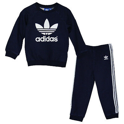 adidas ORIGINALS Kinder BABY CREWSET SUITS Trainingsanzug [ 68 80 86 92 98 ] NEU