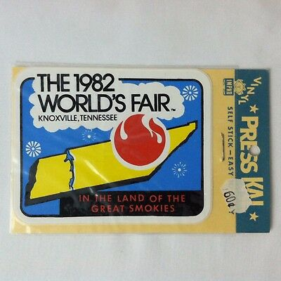 Vtg 1982 World's Fair Knoxville, Tennessee Land of Great Smokies Vinyl Sticker