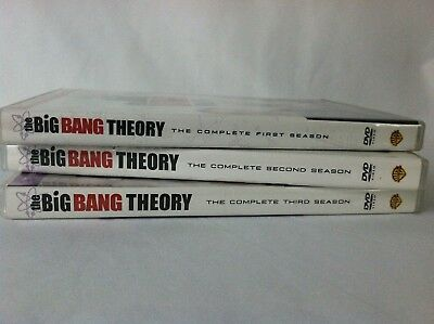 Big Bang Theory The Complete 1st 2nd 3rd Season DVD 10-Disc Set *63 Episodes*
