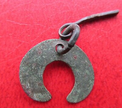 Ancient Viking Bronze Pendant Lunula