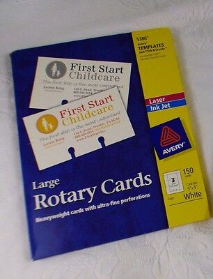 AVERY Large Rotary Cards 129 Cards Total 5386 Template Laser Inkjet Printable