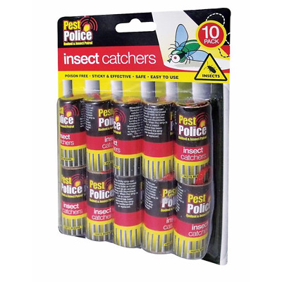 10 Pack Fly Insect Insects Bugs Wasp Poison Free Sticky Papers Traps Catchers