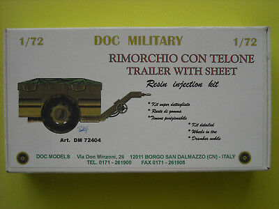 """DOC MILITARY Resinmodellbausatz """" TRAILER WITH SHEET """", No. DM 72404, 1/72"""