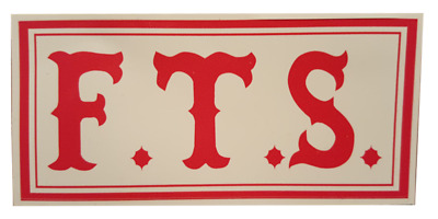 F.T.S. Aufkleber Original 81 Support Hells Angels Sticker RAW Red & White