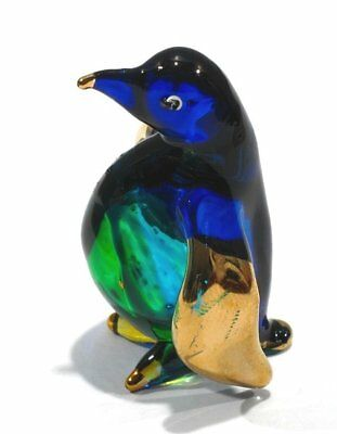 Handmade Penguin Art Glass Blown Sea Animal Figurine / Bird Figurine