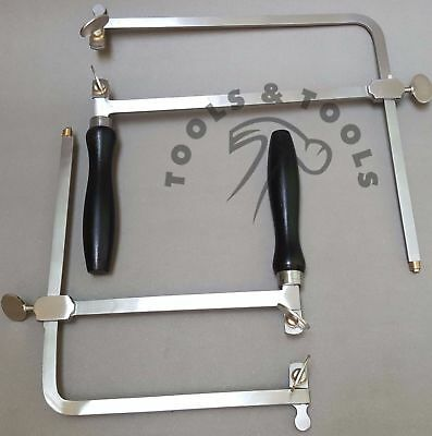 Jewelry Piercing Saw Frame Jewelers Hand Tool Adjustable 6 Sizes+ Free 12 Blades
