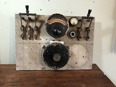 Old Steampunk Industrial Electrical Control Panel Gauge
