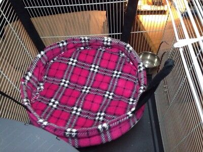 cosy large 14inch Round hammock. ferret,rat,chinchilla,degu.small Pet.