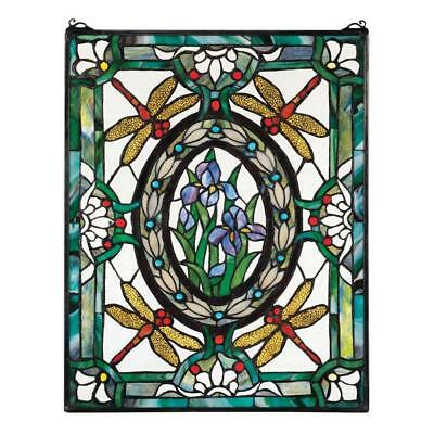 Dragonfly Floral Window