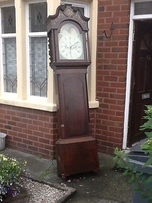 John lees middleton mahogany  8day Moon dial longcase grandfather clock 1800..