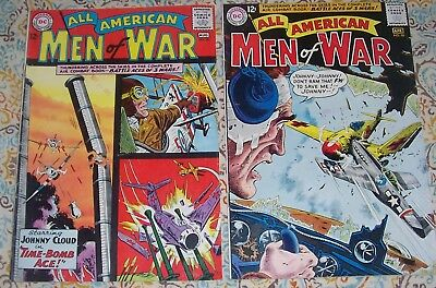 Lot Of 2 All American Men Of War #96 & 98 D.c. War Comics Johnny Cloud!!