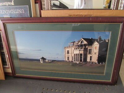 LARGE DEN THE OLD COURSE Scotland Royal and Ancient Clubhouse Framed Golf Print