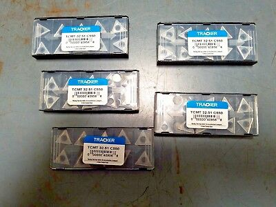 TCMT 32.51 C5 Tracker UNCOATED Solid Carbide Inserts /10pks of 10 (LOT OF 100)