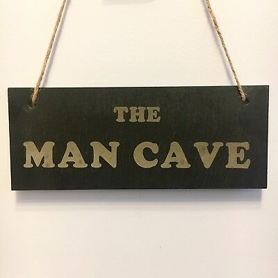 Personalised Slate Sign Hanging Sign The Man Cave Sign