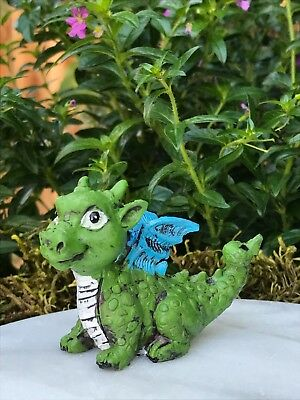 Miniature Dollhouse FAIRY GARDEN ~ Mini Baby Green Dragon Figurine ~ NEW