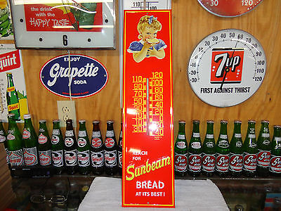 Sunbeam Bread Thermometer 28 X 7 Made In Usa With Sunbeam Girl Embossed