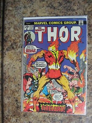Thor   1974   No. 225 First App Firelord Silver  Age Comics Posted Now