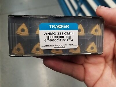 WNMG 331 CM14 Tracker *COATED* Solid Carbide Inserts /5pks of 10pcs (LOT OF 50)