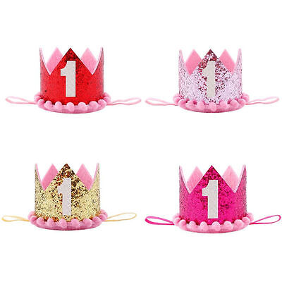 Princess Baby Girl 1st Birthday Flower Crown-Party One /& Two Year Hairband E WD