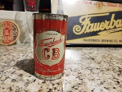 Fauerbach CB Flat Top Beer Can (Wisconsin) top Open
