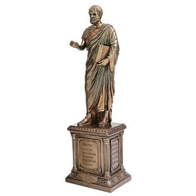 Greek Bronze Finish Wisdom Aristotle Statue