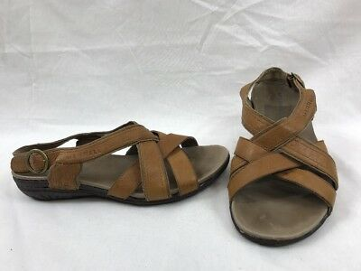9051a1856051 Merrell Bassoon Tan Leather Slingback Sports Sandals Comfort US Womens Size  7