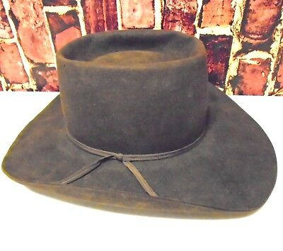 c7eba4083c2 BEAVER HATS Brand Vintage Ten X Quality Imported Fur Cowboy Hat Size 7  Brown 86