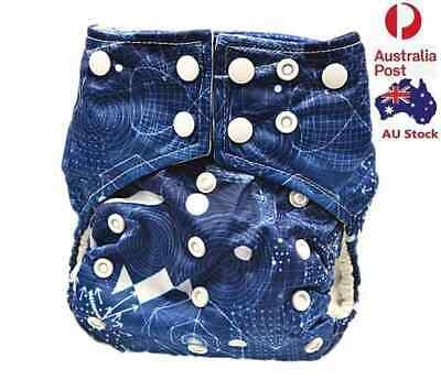 Baby Boy Boyish Pocket Nappies Baby Cloth Nappy Diapers Double Gussets 113009