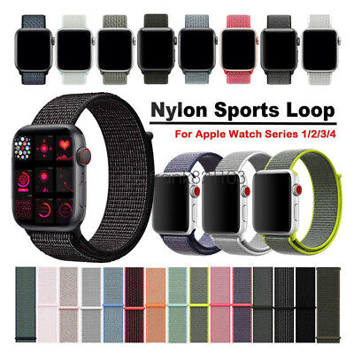 Woven Nylon Sport Loop Bracelet Watch Straps For Apple Watch Band Series 4 3 2 1