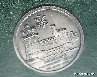 1969 Investiture Medal Charles Prince Of Wales Caernarvon Castle With Case Nice