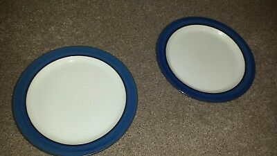 Denby Imperial Blue Stoneware Tableware Dinner Plates X 2
