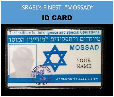 "MOSSAD  ""ISRAEL's finest""  movie IDs.... ID Card & ID Badge Set"