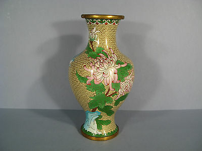 Vase Style Far East Bronze Enamelled / Vase Bronze Enamelled