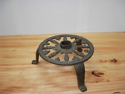 1891 Christmas Tree Stand Holder Merk's Cast Iron Feather Tree Grapes People Old