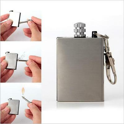 10pcs Hot Sell Stainless Steel Permanent Fire Metal Match Lighter With Key Ring