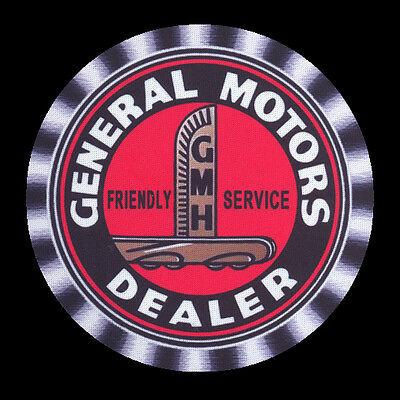 4 x HOLDEN EARLY GENERAL MOTORS DEALER GMH FRIENDLY SERVICE - DRINK COASTERS -