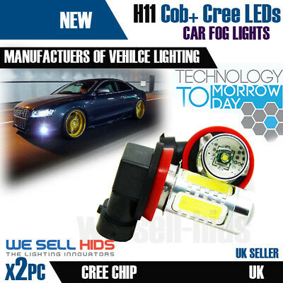 2x H11 H8 cree 12w xenon white led fog light bulbs audi vw bmw projector daytime