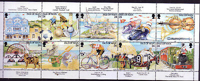 1994 Isle of Man Manx Tourism Centenary. Booklet Stamps SG 590/9 MNH