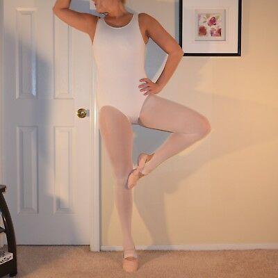 """Womens Pre Owned """"body Wrappers"""" L/xl Pink Stir Up Ballet Tights"""
