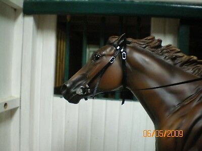 Jaapi Black RACING/English bridle - fits Breyer Traditional, not for real horses