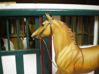 Jaapi Brown RACING/English bridle - fits Breyer Traditional, not for real horses