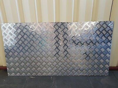 Aluminium Tread Checker Plate Sheet 1200mm x 630mm x 2mm