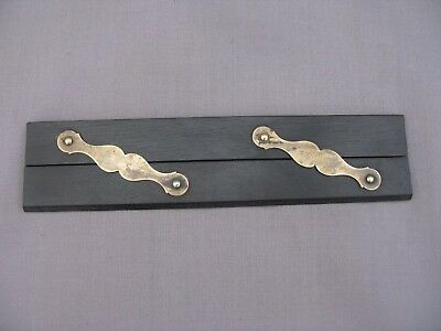 Antique Ebony & Brass Ruler Parallel Navigation Maritime Naval Charting Map Rule
