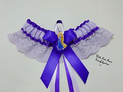 Rapunzel Tangled Lace Disney Bridal Wedding Garter.