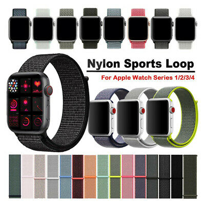 Woven Nylon Sport Loop Cinturino Watch Strap Per Apple Watch Band Series 4 3 2 1