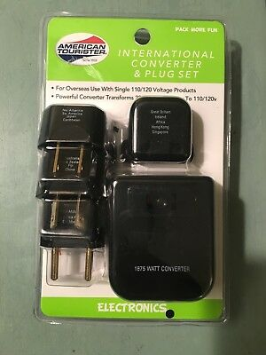 American Tourister International Converter And Plug Set Open Package E2