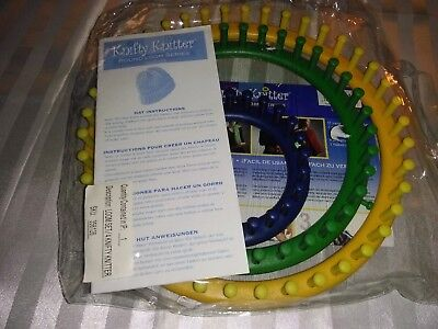 Knifty Knitters 3 Piece Round Loom Set w/ Instructional Book Included