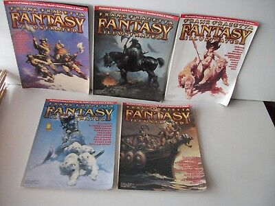 5 FRANK FRAZETTA FANTASY Illustrated Mags 1st 2 3 4 1998  5 1999 Moebius  Corben